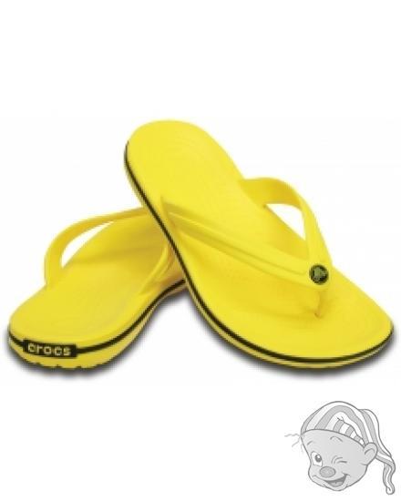 CROCS Crocband Flip barva Lemon/Black