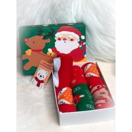 Dětské vánoční ponožky 6ks