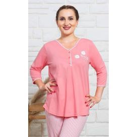 Dámské pyžamo dlouhé Kopretiny