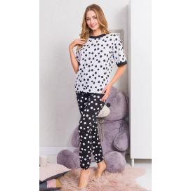Dámské pyžamo dlouhé Kuličky