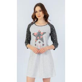 Dámská noční košile s tříčtvrtečním rukávem Hvězda