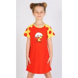 Dětská noční košile s krátkým rukávem Malé kuře