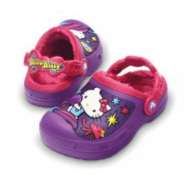 CROCS Hello Kitty Space Adventure Lined Clog - barva Dahlia/Raspberry